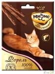 Мнямс Деликатес лакомые палочки для кошек с форелью 3x4гр