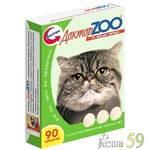 Доктор ZOO витамины для кошек с печенью 90таб.