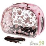 Ibiyaya складная сумка переноска для собак и кошек до 6 кг прозрачная