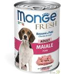 Monge Dog Fresh Chunks in Loaf консервы для собак мясной рулет со свининой 400г