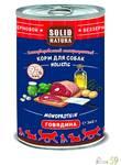 Solid Natura Holistic консервы для собак со вкусом говядины 340 гр