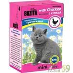 Bozita тетрапак для котят курица в желе 190гр