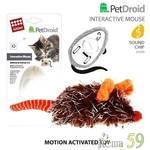 GIGwi Игрушка для кошек Интерактивная мышка 9см