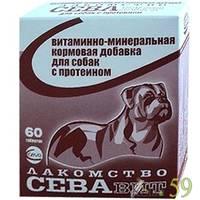 СЕВАвит для собак с протеином 60таб.