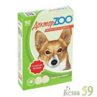 Доктор ZOO витамины для собак с печенью 90таб.