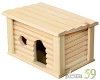 Домик деревянный для мелких грызунов Южный 18x13x11см