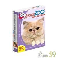 Доктор ZOO витамины для кошек с лососем 90таб.