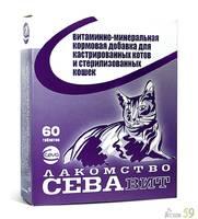 СЕВАвит для кастрированных котов и стерилизованных кошек 60таб.