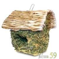 Домик для грызунов плетеный с крышей