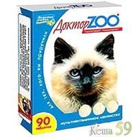 Доктор ZOO витамины для кошек с морскими водорослями 90таб.
