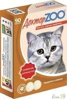 Доктор ZOO витамины для кошек с копченостями 90таб.