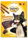Мнямс Мясной карнавал лакомые палочки для кошек (индейка, ягненок) 3x4гр.