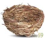 Гнездо для птиц плетеное 12x5,5см