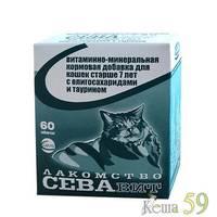 СЕВАвит для кошек старше 7 лет 60таб.