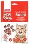 Beaphar Лакомство для кошек Нежные суши с тунцом и цыпленком 40гр