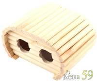 Домик деревянный для грызунов Кемпинг 17x10x10см