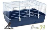 Клетка для кроликов 67x42x33см