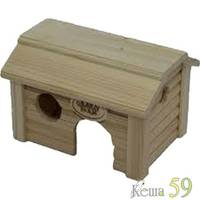 Дом Баня для мелких грызунов деревянный