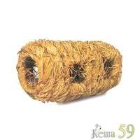 Домик туннель для мелких грызунов плетёный с входами 17x9,5см