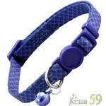 Triol Ошейник для кошек темно-синий с колокольчиком 21-33 см