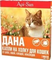 Дана Спот-он капли для кошек 1 пипетка
