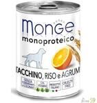 Monge Dog Monoproteico Fruits консервы для собак паштет из индейки с рисом и цитрусовыми 400г