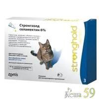 Стронгхолд капли для кошек 2,6-7,5кг инсекто-акарицидные, 1 пипетка