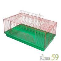 Клетка для кроликов Франдр хром 90x55x40см