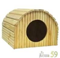 Дом ангар для морской свинки №1 деревянный 26x19x16см
