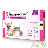 Inspector Total Mini для кошек, собак, котят и щенков до 2 кг x 1 пипетка