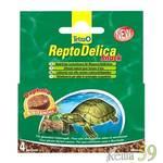 Tetra ReptoDelica Snack корм для водных черепах с дафнией 4х12гр