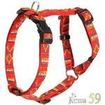 Каскад Шлейка орнамент красная 25x45/60см