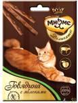 Мнямс Деликатес лакомые палочки для кошек с говядиной и яблоками 3x4гр