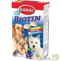 Витамины SANAL для собак Биотин 100 таб.