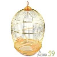 Клетка для птиц круглая золото №480