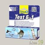 Tetra Тест 6в1 GH/KH/NO2/NO3/pH/Cl полоски для пресной воды 25шт