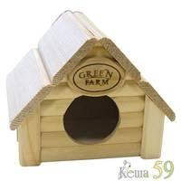 Дом Изба для мелких грызунов деревянный