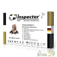 Inspector для собак до 4кг препарат противопаразитарного действия 1 пипетка