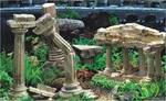 Фон для аквариума 3D Греческие руины и Террариум 45см