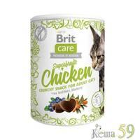 Brit Care Лакомство для кошек Superfruits с курицей 100гр