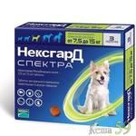 НексгарД Спектра таблетки для собак 7,5-15кг 1 таб