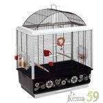 Клетка для птиц PALLADIO 3 DECOR черная
