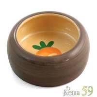 Миска керамическая для грызунов с морковкой 0,36л