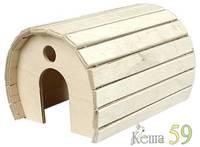 Домик деревянный полукруглый для грызунов