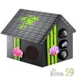 PerseiLine Дом дизайн Бамбук 33x33x40см