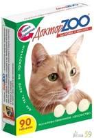 Доктор ZOO витамины для кошек с протеином 90таб.