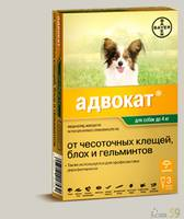 Bayer Адвокат для собак до 4-х кг 1 пипетка х 0,4 мл