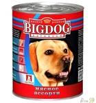 BIG DOG консервы для собак мясное ассорти 850гр