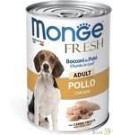 Monge Dog Fresh Chunks in Loaf консервы для собак мясной рулет с курицей 400г