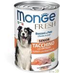 Monge Dog Fresh Chunks in Loaf консервы для пожилых собак мясной рулет с индейкой 400г